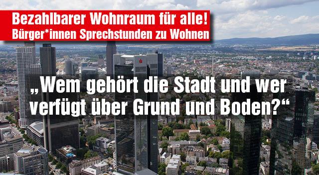 Offene Bürger*innen-Sprechstunden zu Wohnen @ Bildungsraum Schönstraße | Frankfurt am Main | Hessen | Deutschland
