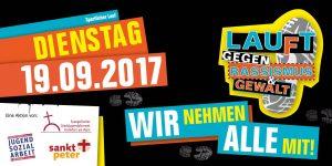 Lauft gegen Rassismus und Gewalt @ jugend-kultur-kirche sankt peter | Frankfurt am Main | Hessen | Deutschland