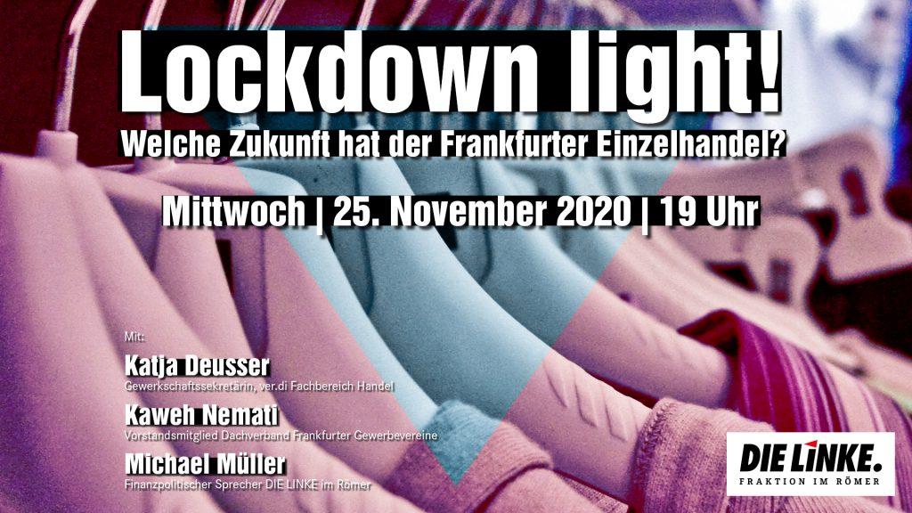 Welche Zukunft hat der Frankfurter Einzelhandel @ Online Veranstaltung